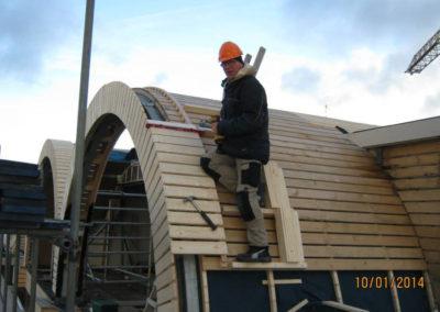 Dakopbouw hout