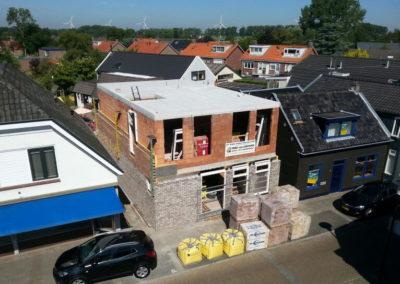 Nieuwbouwhuis in aanbouw